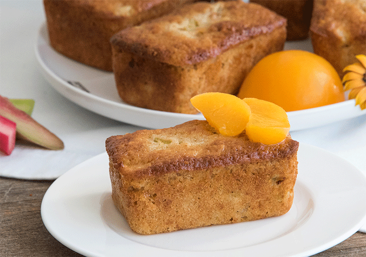 Rharbarber Pfirsich Minikuchen