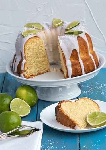 Sommerkuchen mit Kokos und Limette