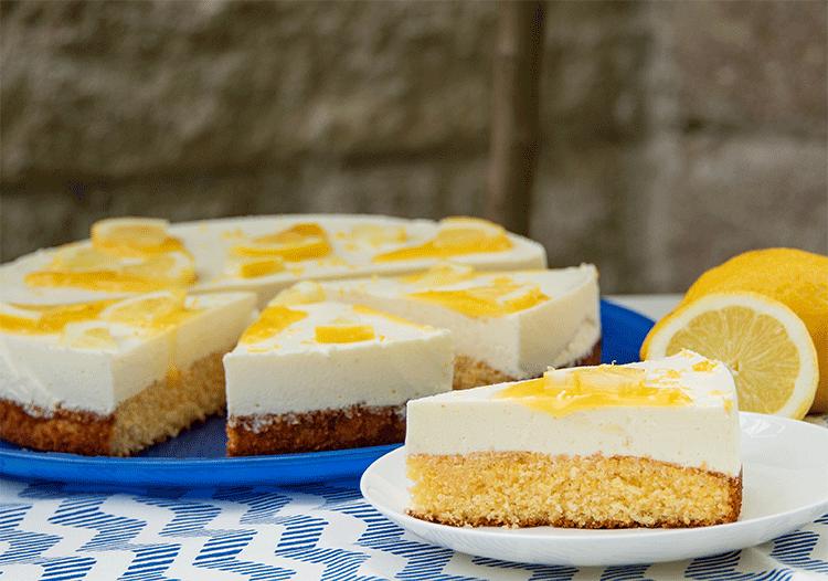 Zitronen Schmand Kuchen Mit Lemon Curd Kuchenmomente
