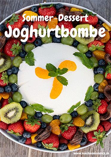 Sommerdessert Joghurtbombe