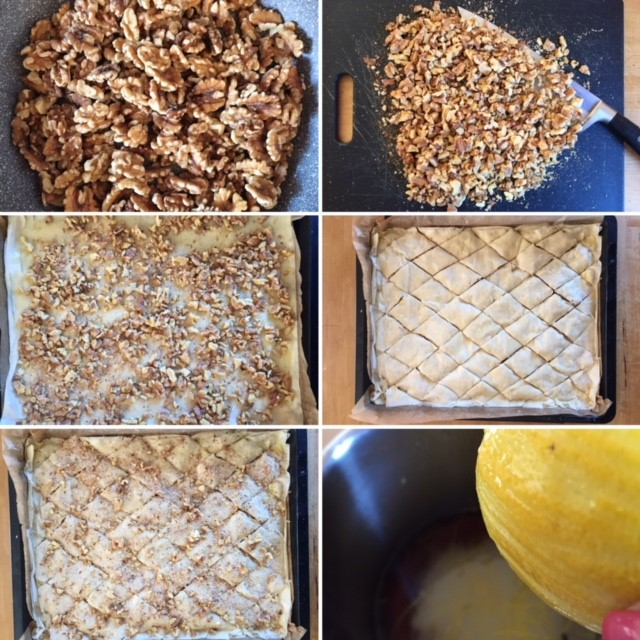 Collage Herstellung Baklava