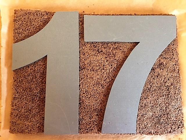 Biskuitböden für Zahlentorte numbers cake
