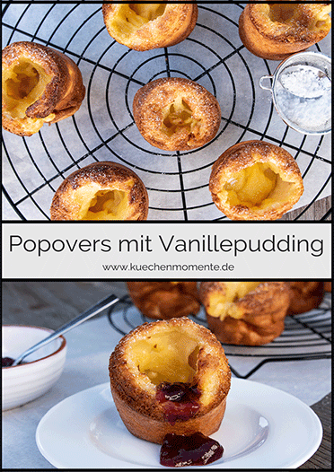 Popovers mit Vanillepudding