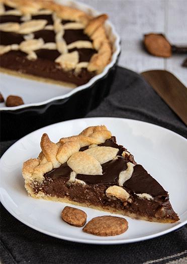 Anschnitt Crostata Schokoladenfüllung