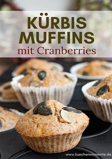 Kürbis Muffins mit Cranberries