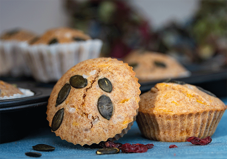 Kürbismuffins Vollkornmehl Cranberries