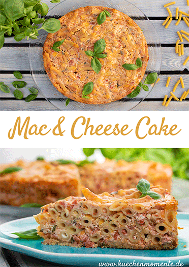 Mac and cheese cake