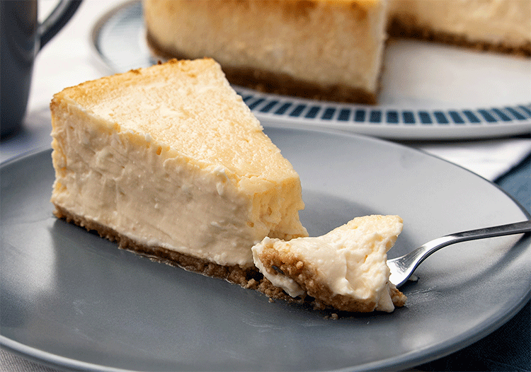 Anschnitt New York Cheesecake