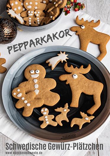 Pepparkakaor Weihnachtskekse aus Schweden