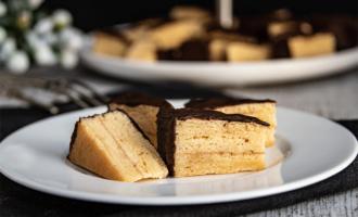 Baumkuchenspitzen mit Marzipan