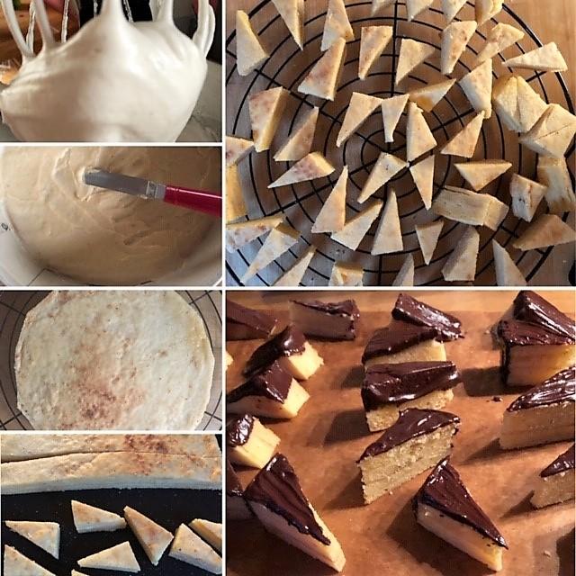 Zubereitung Baumkuchenspitzen