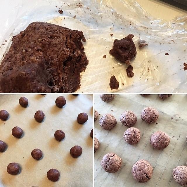 Rollen der Schokoladen-Rum-Drops