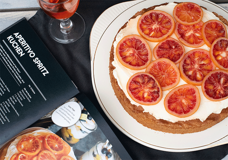 Aperitivo-Spritz-Kuchen mit Blutorangen