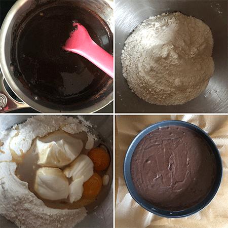 Zubereitung Schokoladenkuchen