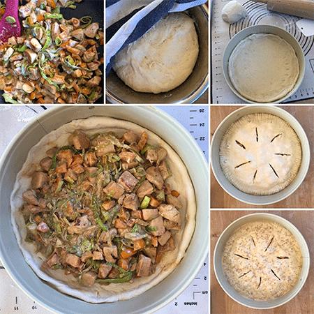 Zubereitung Hähnchenkuchen