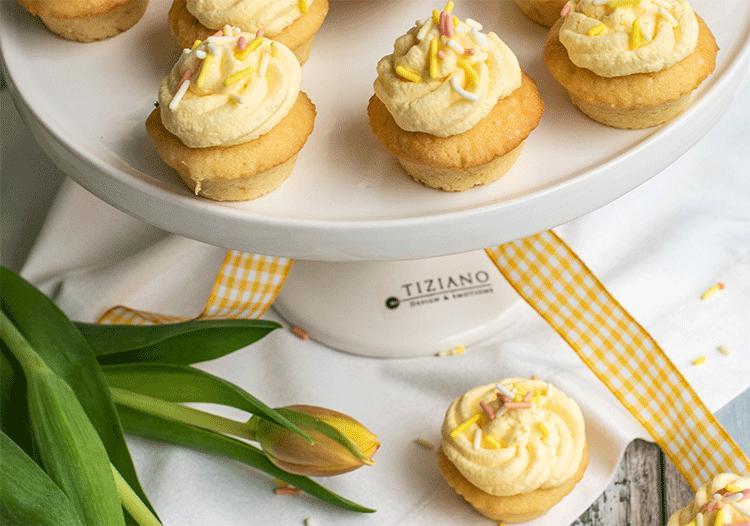Kleine Cupcakes mit Eierlikör