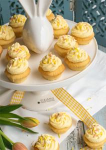 Mini Cupcakes mit Eierlikörsahne zu Ostern