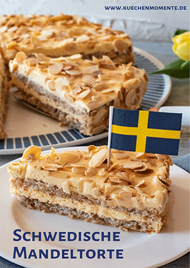 Schwedische Mandeltorte Pinterestpost