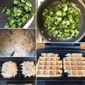 Zubereitung Bärlauchwaffeln