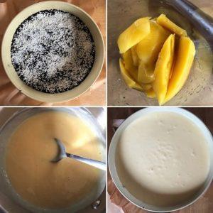 Zubereitungsschritte Mango-Joghurt-Torte no bake