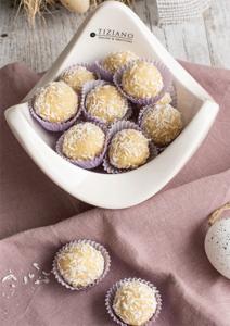 Perfekt zu Ostern Eierlikör-Trüffel mit Mandeln