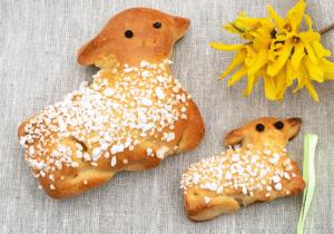 Süßes Hefegebäck zu Ostern