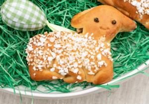 Hefeteig Lämmchen zu Ostern