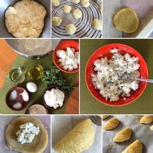 Zubereitung Tiropitakia Kourou