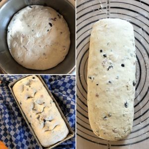 Zubereitungsschritte Käse-Speck-Oliven-Brot
