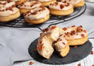 Anschnitt Donut aus Hefeteig