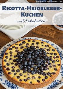 Ricotta-Heidelbeer-Kuchen Pinterestpost