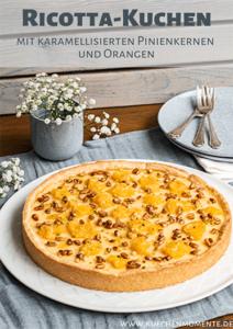 Ricotta-Orangen_kuchen mit Pinienkernen