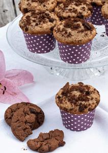 Muffins mit Schokoladenkekse
