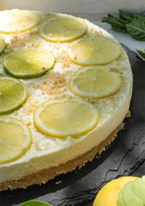 Frischer Zitronen-Cheesecake no bake