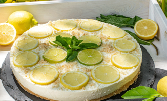Ohne Backen - Limoncello-Cheesecake