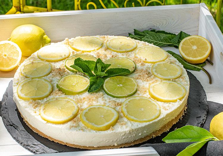 Ohne Backen - Limoncello-Cheesecake