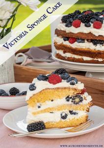 Victoria Sponge Cake pinterestpost