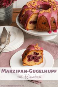 Gugelhupf mit Kirschen und Marzipan