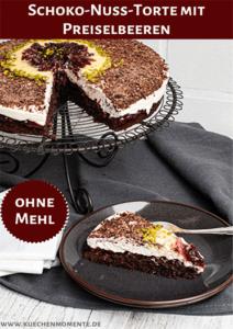 Schoko-Nuss-Torte Preiselbeeren Pinterestpost