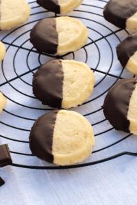 Cookies Shortbread Schokoladenglasur