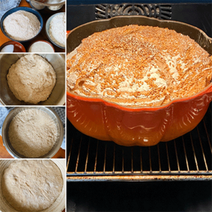 Zubereitungsschritte No knead bread