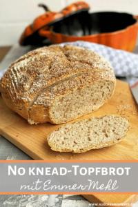 Topfbrot no knead Pinterestpost