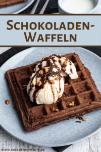 Schokoladenwaffeln Pinterestpost