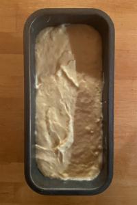 Bananenkuchen ungebacken Kastenform