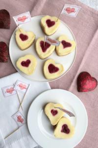 Herz Cheesecake im Kleinformat