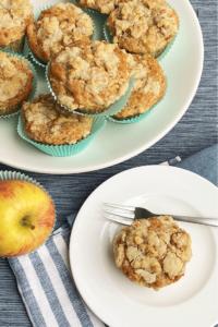 Muffins mit Apfel und Streusel